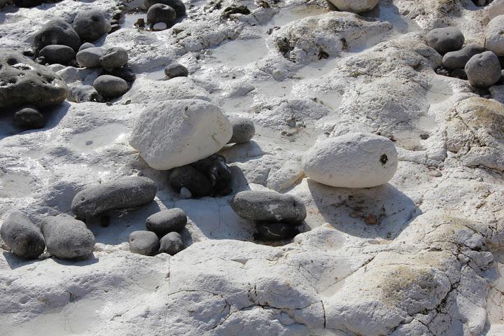 stenen op het strand